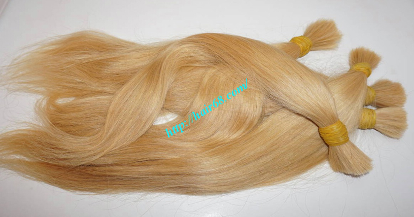 8 inch blonde hair straight single drawn 7
