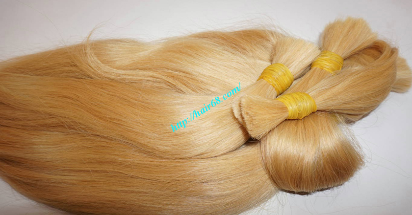 8 inch blonde hair straight single drawn 8