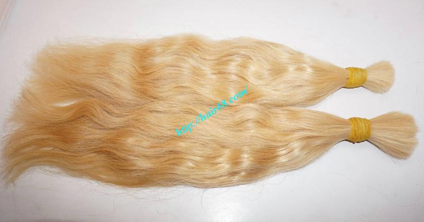 8 inch blonde hair wavy double drawn 2