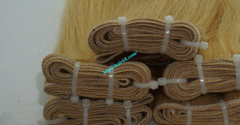 8 inch blonde weave hair straight remy hair 1