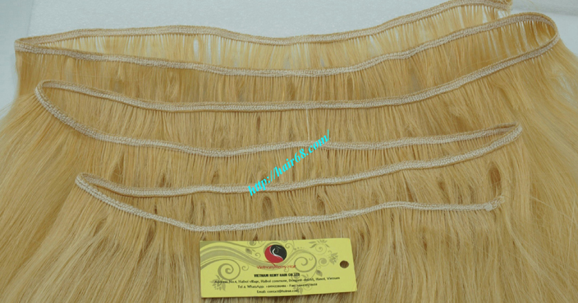 8 inch blonde weave hair straight remy hair 2