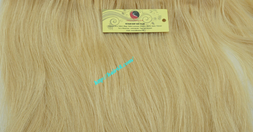8 inch blonde weave hair straight remy hair 3