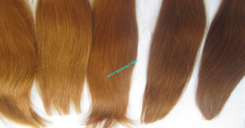 8 inch blonde weave hair straight remy hair 4