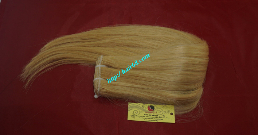 8 inch blonde weave hair straight remy hair 5