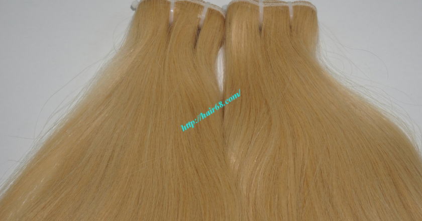 8 inch blonde weave hair straight remy hair 6