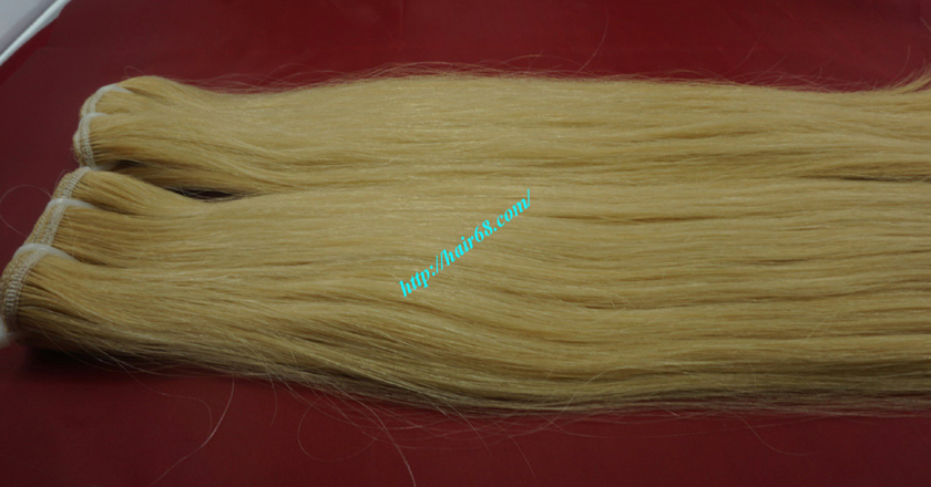8 inch blonde weave hair straight remy hair 7