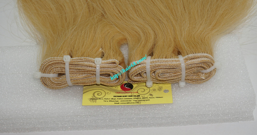 8 inch blonde weave hair extensions 1