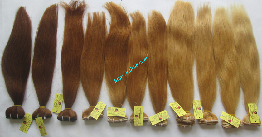 8 inch blonde weave hair extensions 10