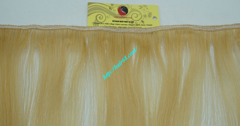 8 inch blonde weave hair extensions 2