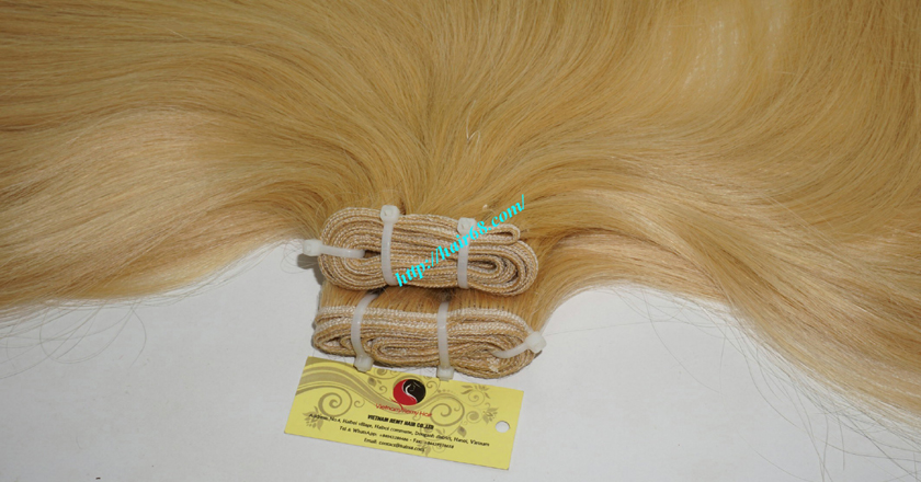 8 inch blonde weave hair extensions 7