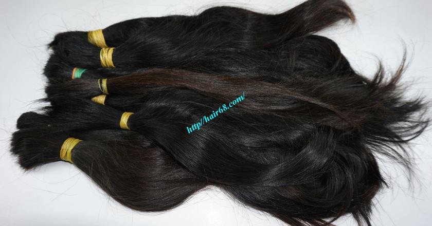 10 inch cheap human hair straight double drawn 1