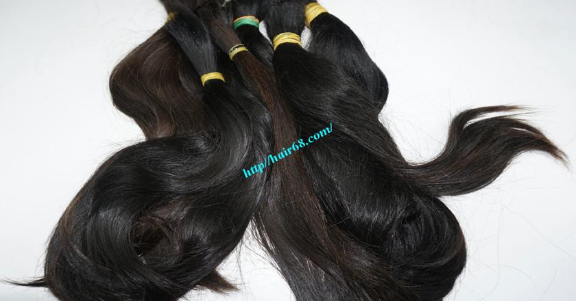 10 inch cheap human hair straight double drawn 2