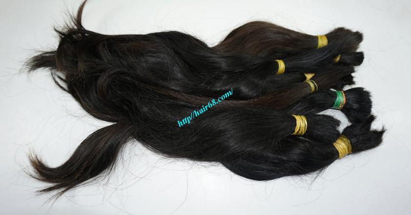 10 inch cheap human hair straight double drawn 3