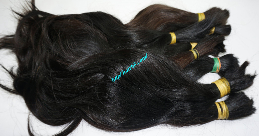 10 inch cheap human hair straight double drawn 4
