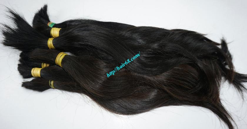10 inch cheap human hair straight double drawn 5