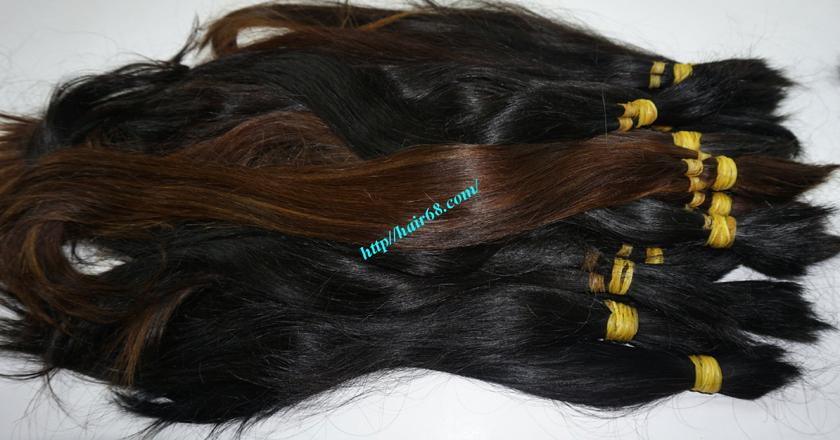 10 inch cheap human hair straight single drawn 2