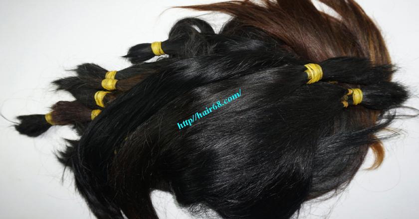 10 inch cheap human hair straight single drawn 4