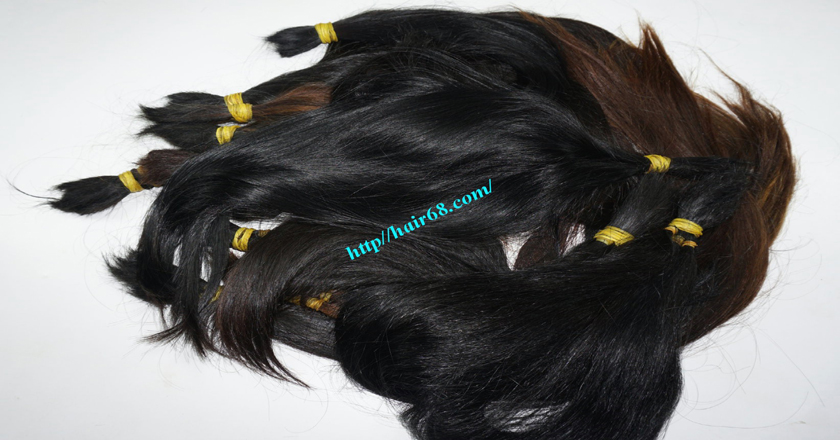 10 inch cheap human hair straight single drawn 5