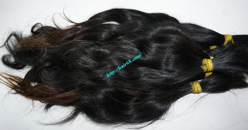 10 inch cheap human hair wavy double drawn 3