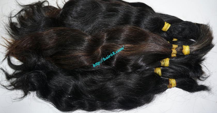 10 inch cheap human hair wavy double drawn 4