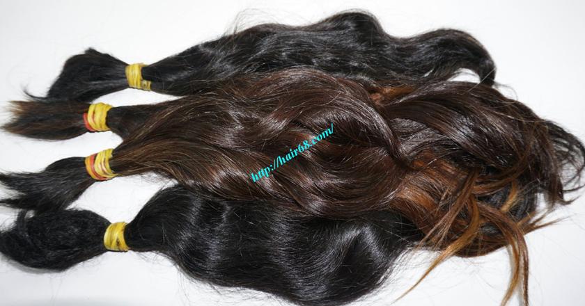 10 inch cheap human hair wavy double drawn 5