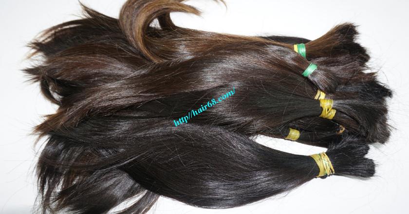 12 inch cheap human hair straight double drawn 5