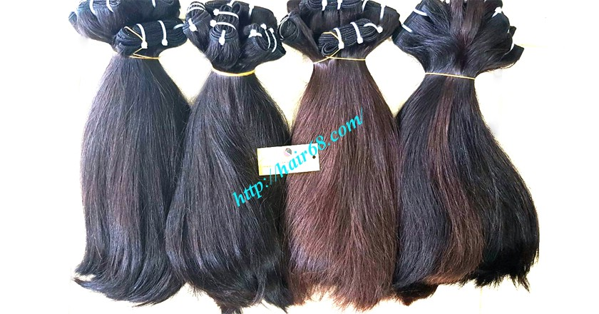 12 inch straight weave hair super double 4