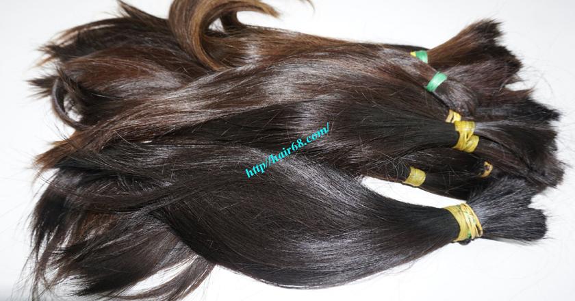 14 inch cheap human hair straight double drawn 1