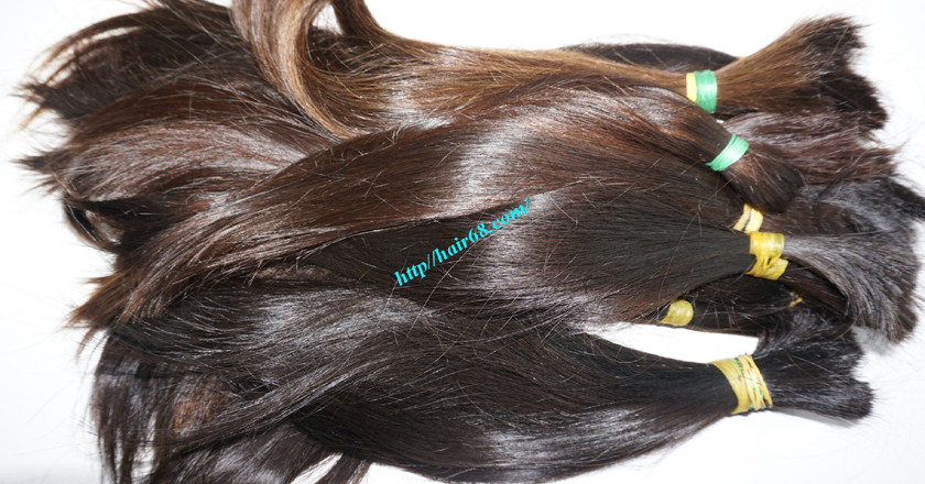 14 inch cheap human hair straight double drawn 2