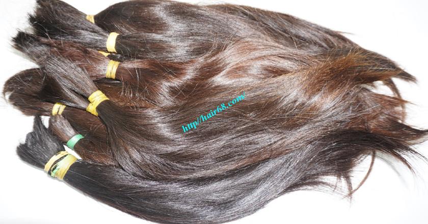 14 inch cheap human hair straight double drawn 3