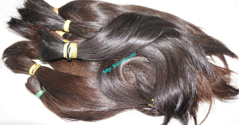 14 inch cheap human hair straight double drawn 4