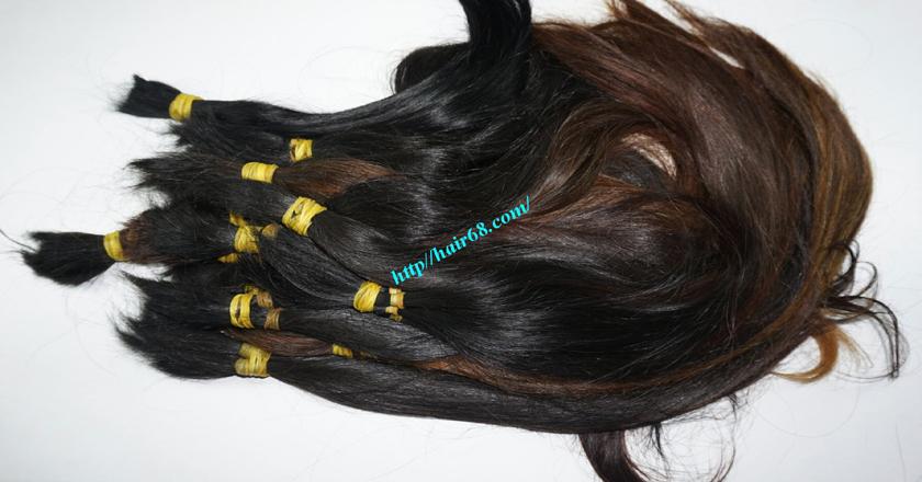 14 inch cheap human hair straight single drawn 4