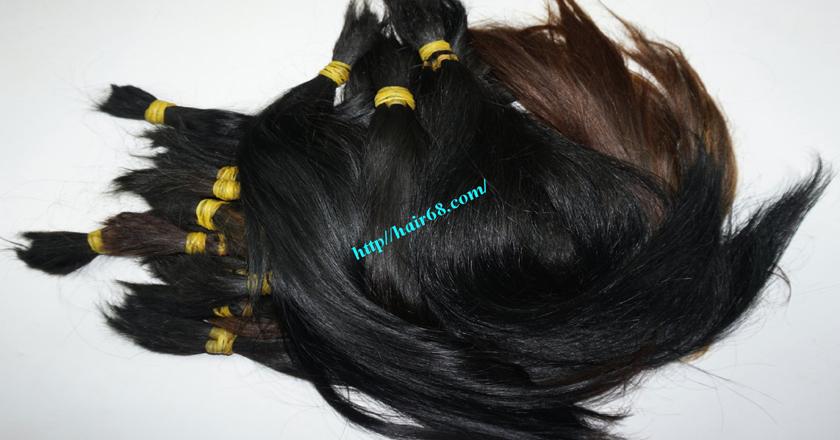 14 inch cheap human hair straight single drawn 5