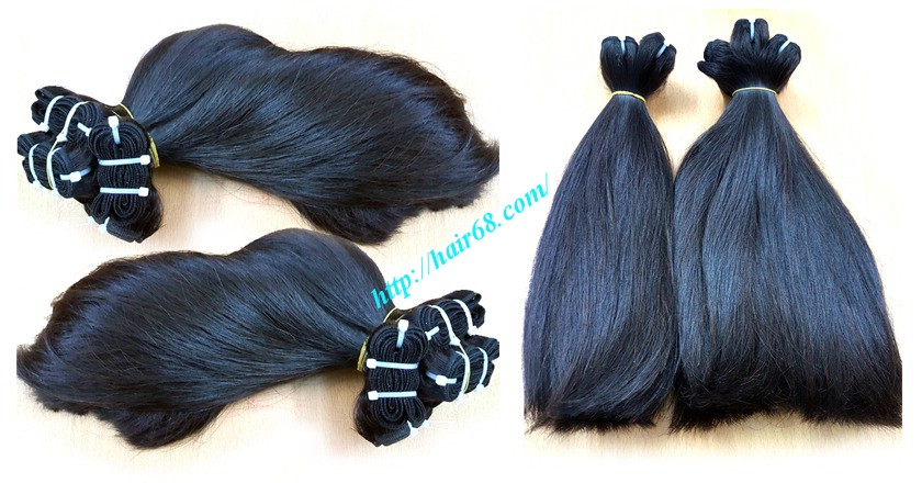 14 inch straight weave hair super double 1