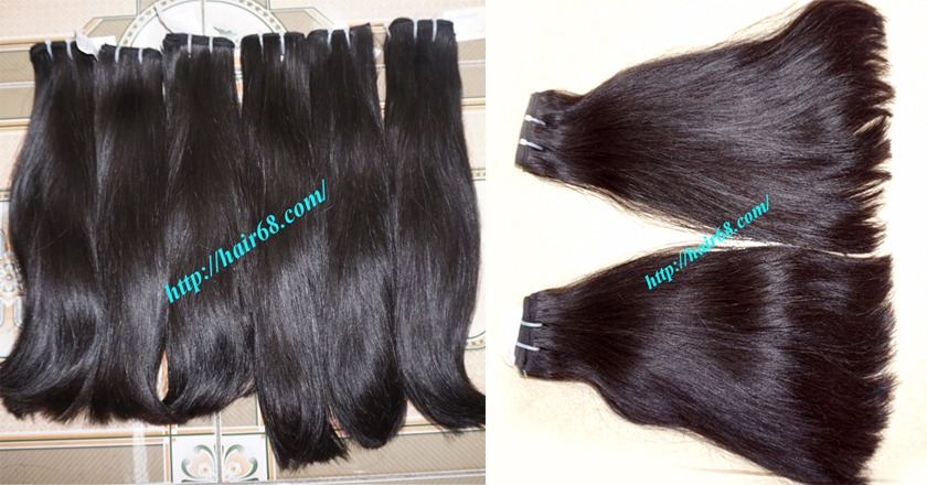 14 inch straight weave hair super double 2