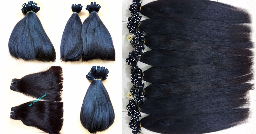 14 inch straight weave hair super double 3
