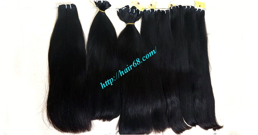 14 inch straight weave hair super double 4