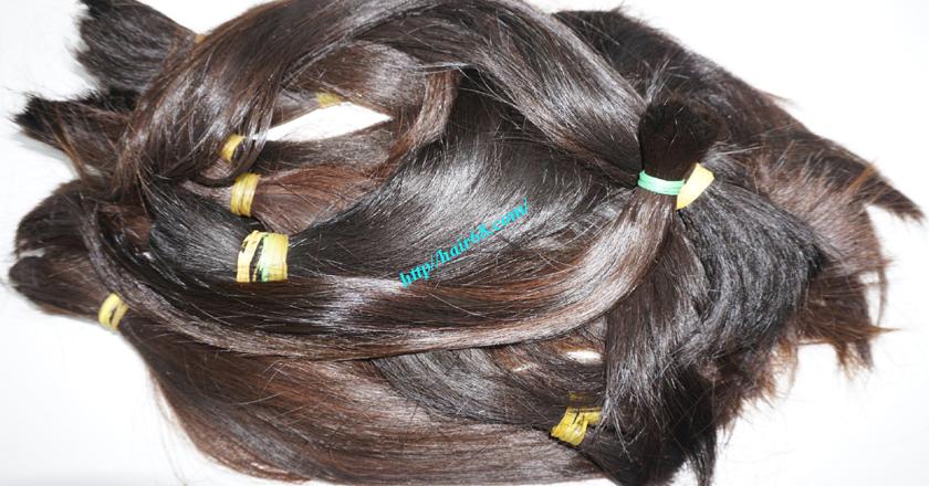 16 inch cheap human hair straight double drawn 1