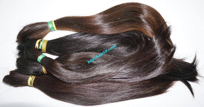 16 inch cheap human hair straight double drawn 3