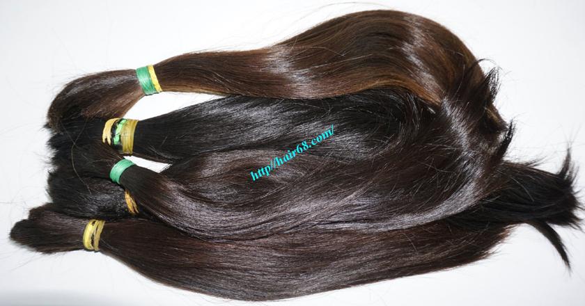 16 inch cheap human hair straight double drawn 4