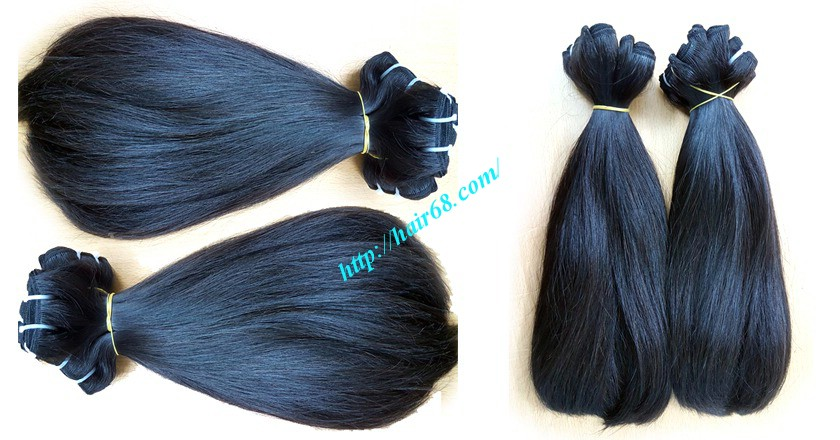 16 inch straight weave hair super double 1