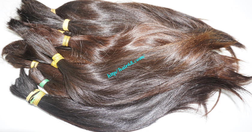 18 inch cheap human hair straight single drawn 5