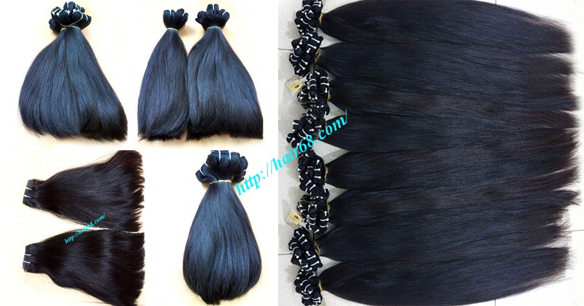 18 inch straight weave hair super double 1