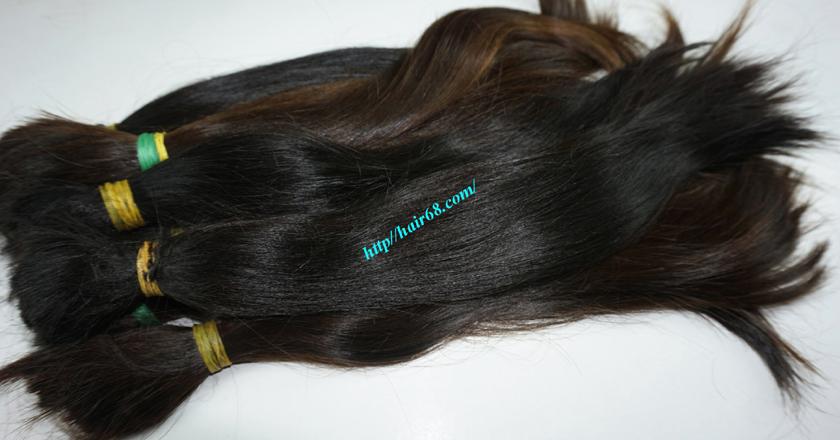 20 inch cheap human hair straight double drawn 1
