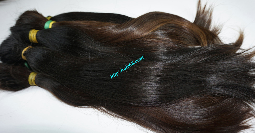 20 inch cheap human hair straight double drawn 2
