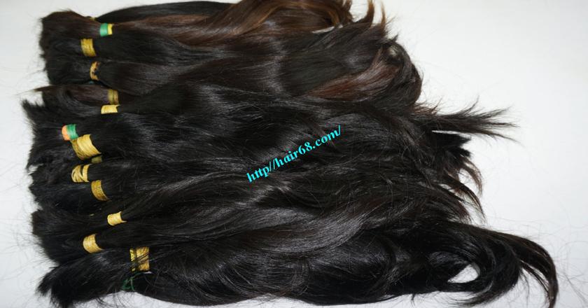 20 inch cheap human hair straight double drawn 3