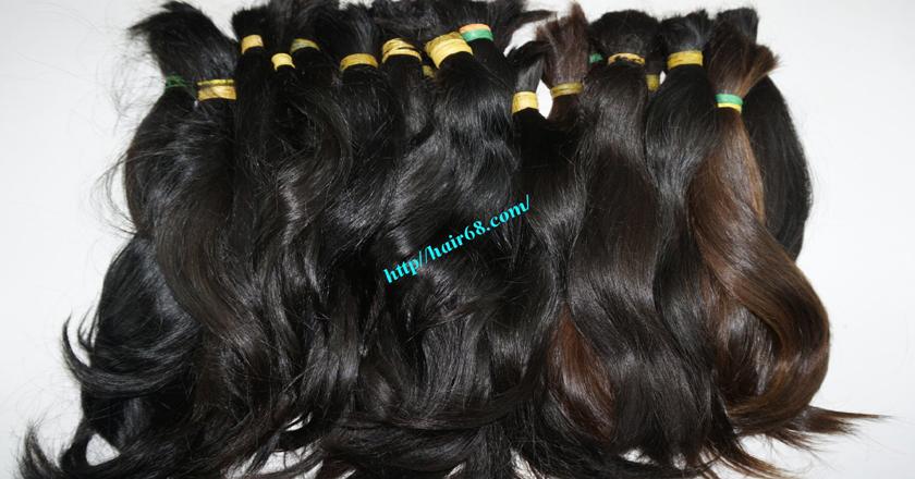20 inch cheap human hair straight double drawn 4