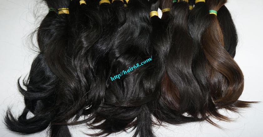 20 inch cheap human hair straight double drawn 5