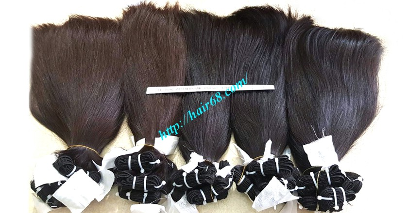 24 inch straight weave hair super double 1