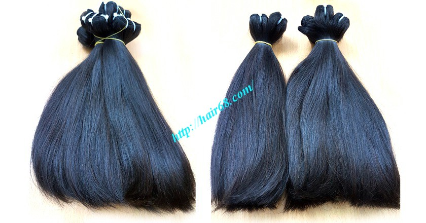 24 inch straight weave hair super double 3